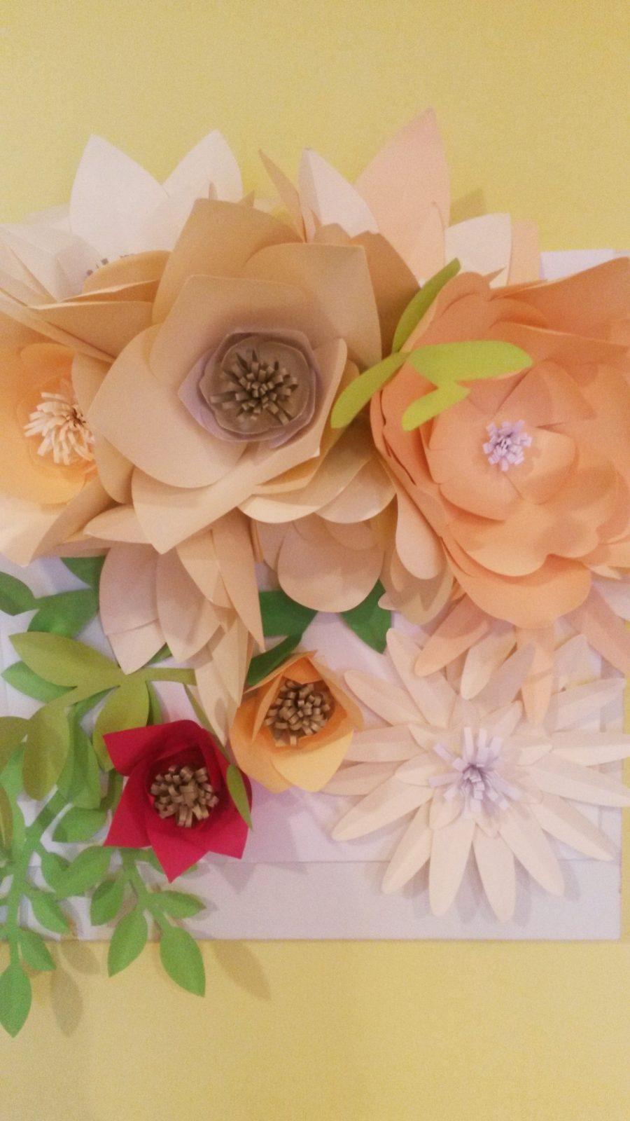 virágok a falon